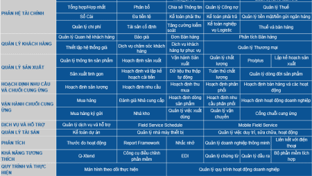 QAD ERP Modules (in Vietnamese language version)