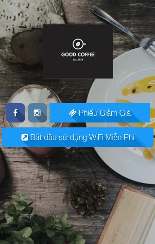 Social WiFi Marketing-Good Coffee